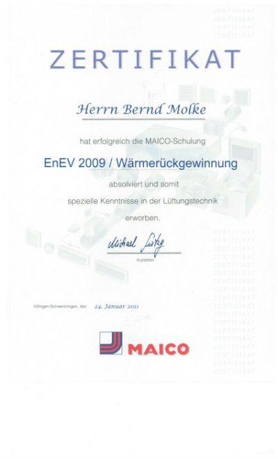 MAICO Schulung Gebäudetechnik Molke GmbH